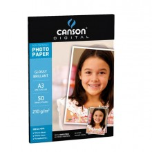 61665 - Carta Inkjet A3 210gr 50fg Photo Glossy Performance Canson -
