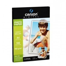 61666 - Carta Inkjet A4 180gr 10fg Photo Glossy Everyday Canson -