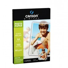 61668 - Carta Inkjet A4 180gr 100fg Photo Glossy Everyday Canson -