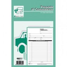 61714 - Blocco Copia Commissioni 23x15Cm 33fg 3 Copie Autoric. E5230Ct Edipro -