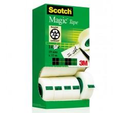 61768 - Multi-Pack 12+2 Rotoli Sfusi Di Nastro Scotch Magic 810 Perm. 19mm x 33Mt -