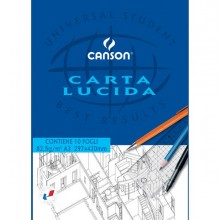 63704 - Blocco Carta Lucida Manuale 297X420Mm 10Fg 80Gr Canson 200005827 - CONF.10 -