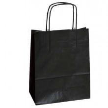 25 Shoppers Carta Kraft 36x12x41Cm Twisted Nero
