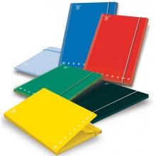 67589 - Cartella 3 Lembi C/Elastico A4 - D 1.2 Monocromo Colori Assortiti 02175633L - CONF.6 -