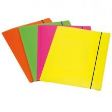 68090 - Cartellina 3L Con Elastico Colori Fluo Shocking File 1028001 - CONF.4 -