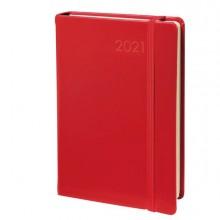 69961 - Agenda giornaliera Daily Pocket Prestige 8 8X13cm Habana rosso 2021 Quo Vadis -