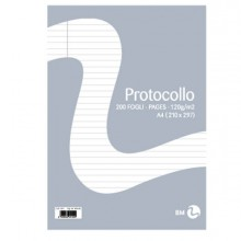 71065 - Fogli Protocollo A4 60gr 20fg Uso Bollo Bm -