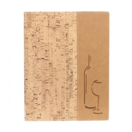 71609 - Carta Dei Vini A4-24x34Cm Sughero Design Con 1 Inserto Doppio -