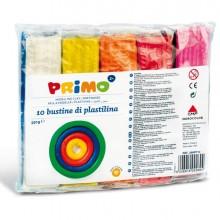 71773 - Panetto Plastilina 10 Colori Da 55gr Primo -