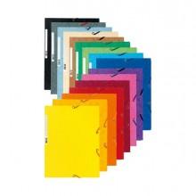 71872 - Cartella Con Elastico 24X32Cm Mix 10 Colori Cartoncino Lustre' 425Gr 55500E - CONF.50 -