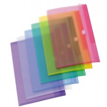 Set 12 Buste ppl Con Velcro Colori Assortiti Tarifold