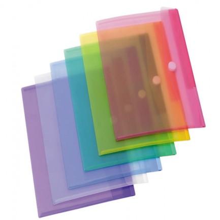 71888 - Set 12 Buste ppl Con Velcro Colori Assortiti Tarifold -