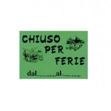 72117 - Cartello In Cartoncino 'Chiuso Per Ferie' 16X23Cm Cwr 315/12 315/12 - CONF.10 -