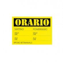 72118 - Cartello In Cartoncino 'Orario Dalle..Alle..' 23X32Cm Cwr 315/13 315/13 - CONF.10 -