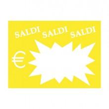 72121 - 50 Segnaprezzi Flash Saldi 8x11Cm Colori Ass. Cwr 06043 -