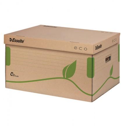 72339 - Scatola Conteiner Ecobox 34X43,9X25,9Cm Apertura Superiore Esselte 623918 - CONF.10 -