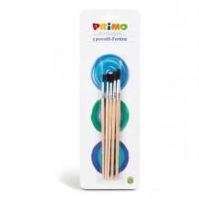 73653 - Blister 5 Pennelli Tondi Assortiti Primo -