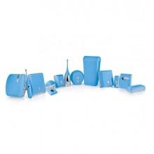 73963 - Dispenser Sapone Liquido 0,55Lt Azzurro Soft Touch -