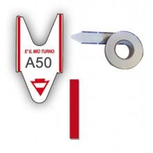 74644 - 5 Rotoli Da 2000 Tickets Rosso Per Elimina Code Printex -