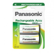 74801 - Blister 2 Mezze Torce Ricaricabili Ready To Use C Panasonic -