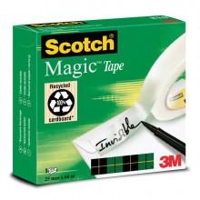 74832 - Nastro Adesivo Scotch Magic 810-2566 25mm x 66Mt Invisibile Permanente -