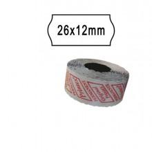 74894 - Pack 10 Rotoli 1000 Etich. 26x12mm Onda Bianco Remov. Printex -