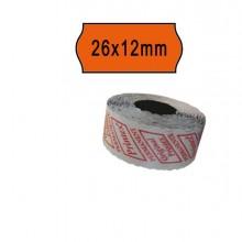74895 - Pack 10 Rotoli 1000 Etich. 26x12mm Onda Arancio Perm. Printex -