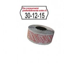 74899 - Pack 10 Rotoli 1000 Etich. 26x12mm Onda Da Consumarsi... Bianco Perm. Printex -