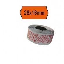 74903 - Pack 10 Rotoli 1000 Etich. 26x16mm Onda Arancio Perm. Printex -