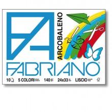76605 - Album Arcobaleno (240X330Mm) Fg 10 140Gr 5 Colori Fabriano 44312433 - CONF.10 -
