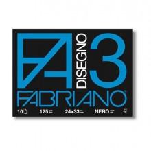 76606 - Album 3 Nero (240X330Mm) Fg 10 125Gr Fabriano 04001017 - CONF.10 -