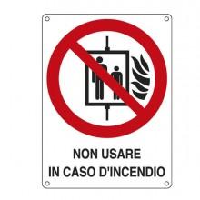 76898 - Cartello Alluminio 11,5x16Cm 'Non Usare In Caso Di Incendio' -