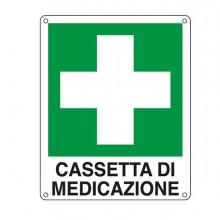 76914 - Cartello Alluminio 16x21Cm 'Cassetta Di Medicazione' -
