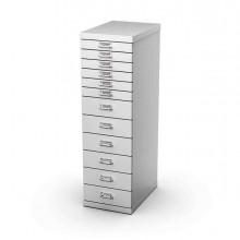 77059 - Cassettiera In Metallo A 12 Cassetti 29x43 - H97Cm grigio -