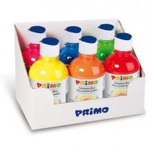78077 - Box 6 Tempera Fluo 300Ml Colori Assortiti Primo -