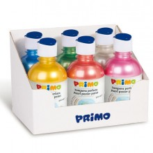 78078 - Box 6 Tempera Colori Perlati 300Ml Colori Assortiti Primo -