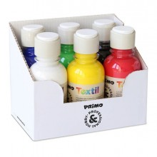 79448 - Box 6 Colori Assortiti 125Ml Per Tessuti Primo -