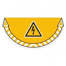 80657 - Adesivo Segnalatore Da Terra Rischio Elettrico 70x35Cm Take Care Cep -