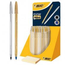 80897 - 9213381 Expo 40 Pz. Bic Cristal Shine Fusto Oro E Argento Bic -