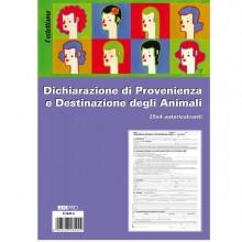 80987 - Blocco Dichiaraz. Prov.-Dest. Animali 25X4 Copie Autoric. 30X22,5Cm E5849A(17) E5849A(17) - CONF.10 -