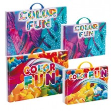 82018 - Valigetta Polionda Color 38x52,5Cm Dorso 5,5Cm Fantasie Assortite -