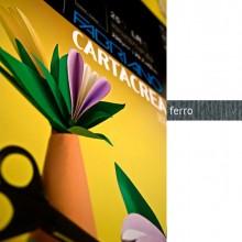 82584 - Blister 10fg Cartoncino 35x50Cm 220gr Ferro Cartacrea Fabriano -
