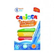 82595 - Astuccio 6 Tempere Temperello Colori Assortiti Carioca -