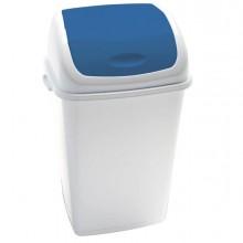 Pattumiera A Basculante 50Lt Rif Basic Bianco/Blu