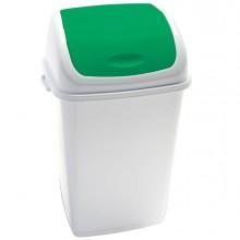 Pattumiera A Basculante 50Lt Rif Basic Bianco/Verde