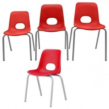 Seduta grande In ppl H46Cm Rosso Teddy Serie School