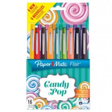 83063 - Astuccio 16 Colori Candy Pop Pennarello Flair Nylon Papermate -