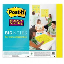 Blocco 30 Fogli Post-It Super Sticky 279x279mm Big Notes Giallo Bn11-Eu