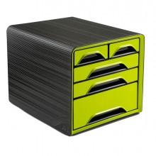 83470 - Cassettiera 5 Cassetti Misti Nero/Verde Anice 7-213 Smoove Cep -