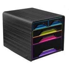 83472 - Cassettiera 5 Cassetti Misti Nero/Multicolore 7-213 Smoove Cep -